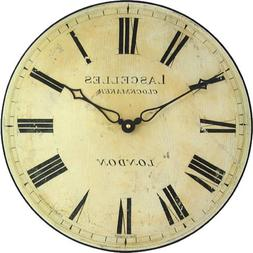 Roger Lascelles Antique Style Wall Clock, 14.2-Inch