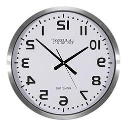 "La Crosse Technology Atomic Analog Clock, 20"", 1 ea"