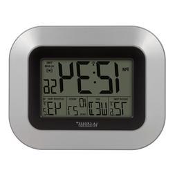 La Crosse Technology Atomic Digital Wall Clock with Indoor O