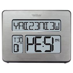 Atomic Full Calendar Clock with Extra Large Digits for The E