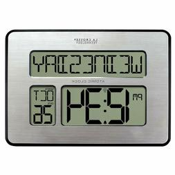 Atomic Full Calendar Clock with Extra Large Digits Perfect G