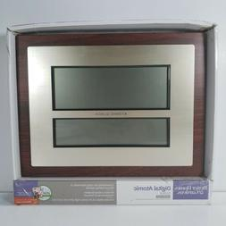 Atomic Digital Wall Clock Weather Forecast Home Office Decor
