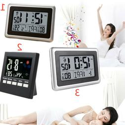 Automatic Digital Dispiay LCD Wall Clock Temperature Snooze