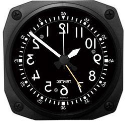 Trintec Aviation Classic Desk Top Travel Alarm Clock Aircraf