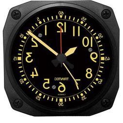 Trintec Aviation Desk Top Travel Alarm Clock Aircraft Vintag