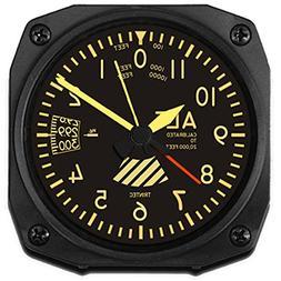 Trintec Aviation Vintage Altimeter Altitude Travel Alarm Clo