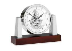Bulova B7520 Largo Clock, Dark Mahogany Finish, New