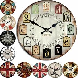 Bamboo Wooden 5mm Wall Clocks Antique Style Needle Clock For