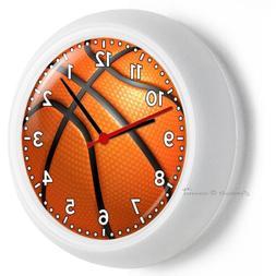 BASKETBALL BALL WALL CLOCK MAN CAVE FOR BOYS BEDROOM ROOM HO