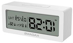 KADAMS Battery Digital Alarm Clock with Snooze, Backlight, C