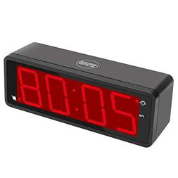 "KWANWA Digital Alarm Clock Large Display with 1.8"" LED Numbe"