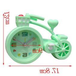 Battery Operated Bicycle Shaped Table Alarm Clock for Studen