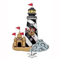 Allen Designs Beacon Lighthouse Hand Painted Pendulum Wall C