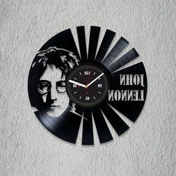 Beatles Vinyl Record Wall Clock Modern John Lennon Room Art