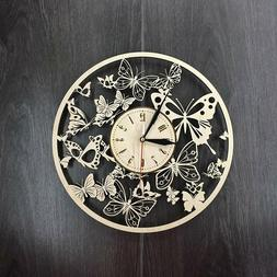 Beautiful Butterfly Large Modern Decorative Wall Clock for L