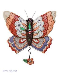Beautiful FREE FLYING Butterfly Designer Wall Clock by Allen