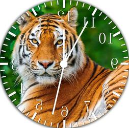 Beautiful Tiger Frameless Borderless Wall Clock Nice For Gif
