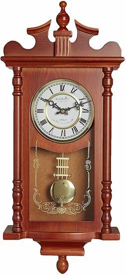 bed1424rw redwood oak finish 25 wall clock