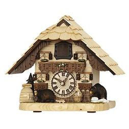 Hermle BENDORF Tabletop Quartz Cuckoo Clock with Two Carved