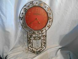 Howard Miller Bernice 625-375 Wrought Iron Pendulum Clock Ba