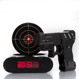 Lock N' load Gun alarm clock/target alarm clock/creative clo