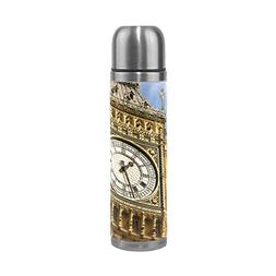 ALAZA Big Ben Clock Face Stainless Steel Water Bottle 17 Oz