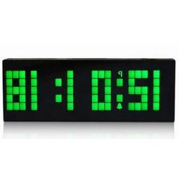 Digital Large Big Number Jumbo LED snooze wall desk Alarm cl