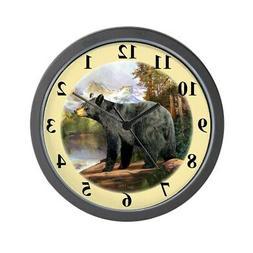 """CafePress Black Bear Unique Decorative 10"""" Wall Clock"""