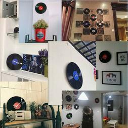 Black Vinyl CD Round WALL CLOCKS for Dining Room, Kitchen, B