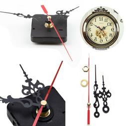 Black Wall Clock Quartz Movement DIY Mechanism Battery Opera