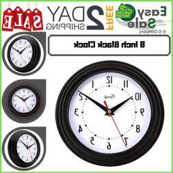 Ess Black Wall Mounted Clock Home Office Room Large Number M