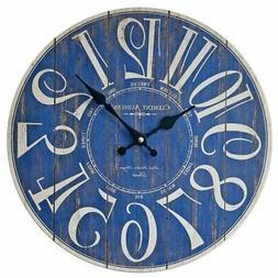 Blue Digital Wall Clock Fashional Decoration For Living Room
