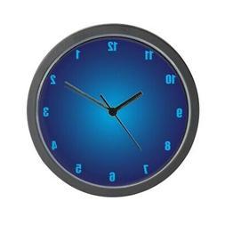 """CafePress Blue Neon Unique Decorative 10"""" Wall Clock"""