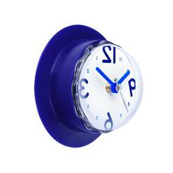 Gluck Blue Waterproof clock for bathroom Kitchen Shower Suct
