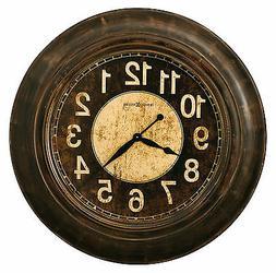 Howard Miller 625-545  Bozeman Wall Clock - Worn Brown