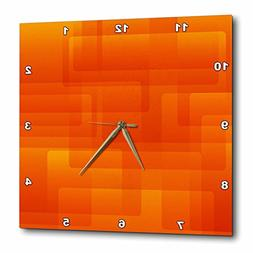 3dRose Bright Orange On Orange Rounded Rectangles Abstract,