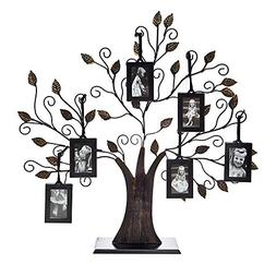 Philip Whitney Metal Family Tree Picture Frame with 6 Hangin