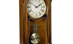 Bulova Clocks C3542 Cranbrook Wall Mount Analog Wooden Chimi