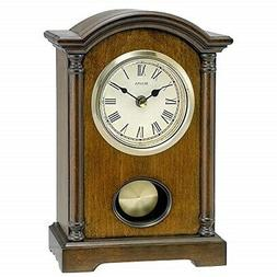 Bulova Dalton Chiming Pendulum Table Clock - Walnut Finish -