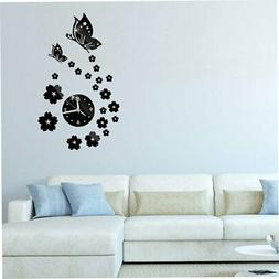 Butterfly Needle Quartz Wall Clocks for Modern Minimalist Wa