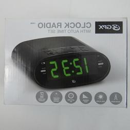 C303B Dual Alarm Clock AM/FM Radio with Time Zone/Daylight S