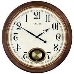 Bulova C4868 Jefferson Wall Clock, Brown Cherry
