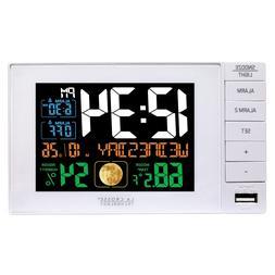 C87061 La Crosse Technology Dual Alarm Clock with USB Chargi