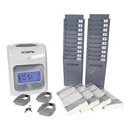 calculating  hn4500 time clock bundle - 200 cards, 3 ribbons