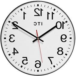 "Infinity Instruments 12"" Carnegie Wall Clock Wall Clock"