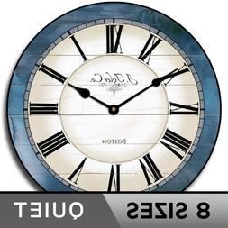 Carolina Blue  Home Decor Ultra Quiet Silent Wall Clock