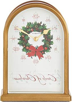 Carols of Christmas II Table Clock with Marble Tone Sides an