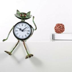Cat Shaped Clock Table Clock for Living Room Office Housewar