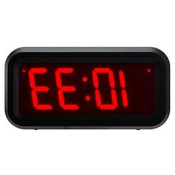 ChaoRong Small Battery Operated Digital LED Alarm Clock with