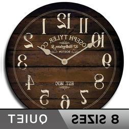 Chesnut Brown Clock, Comes in 8 Sizes, Whisper Quiet, Lifeti